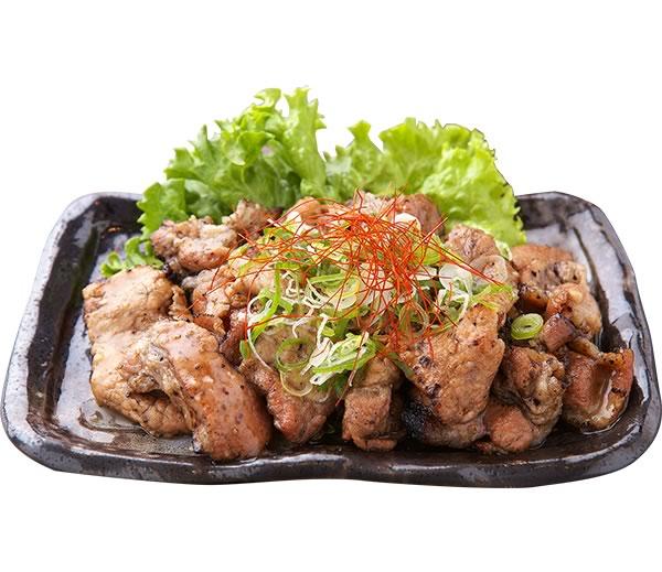 炭火焼き豚皿塩ダレ