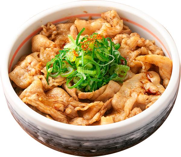 うす切りバラ肉のかぼす丼醤油ダレ