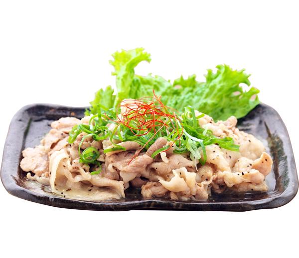 うす切りバラ肉のかぼす皿塩ダレ